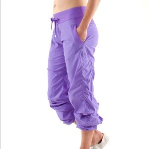 Rare Lululemon Purple Crop Dance Studio Pants